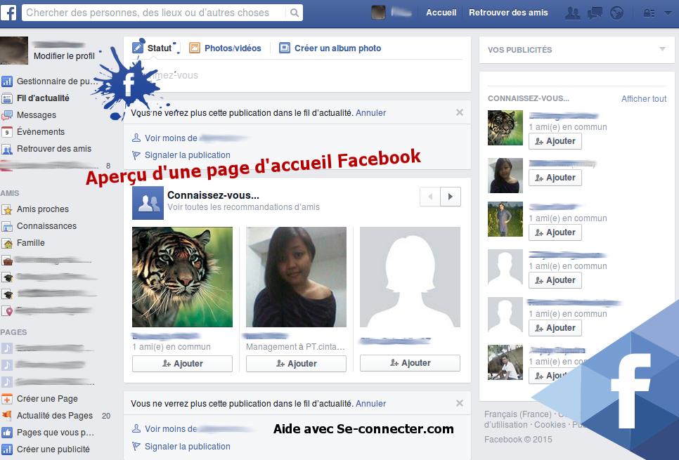 accueil facebook