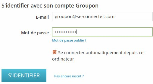 Compte groupon