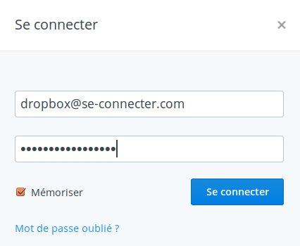 Connexion à ma dropbox