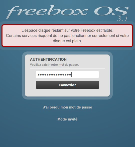 Mot de passe pour Freebox OS