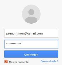 Connexion sur gmail