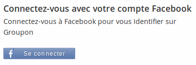 Groupon et facebook