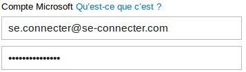 Identifiant et mot de passe Hotmail