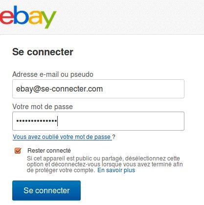 Se connecter à ebay