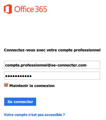 se connecter office 365 avec de microsoft. Black Bedroom Furniture Sets. Home Design Ideas